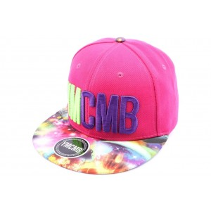 Snapback YMCMB Rose et Visi̬re Cosmos