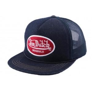 Casquette Snapback Von Dutch Logo Bleu