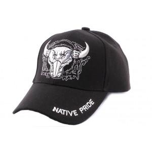 Casquette motard noire Native Pride