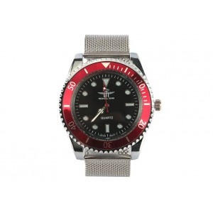Montre Maille Milanaise Sport Rouge