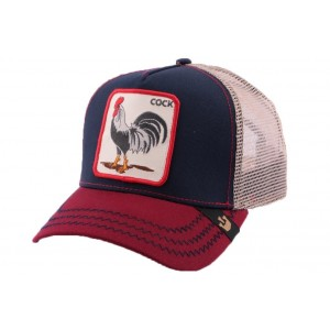 Casquette Trucker Goorin Bros American Rooster Marine