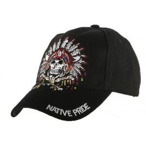 Casquette motard noire Native Pride Indien US