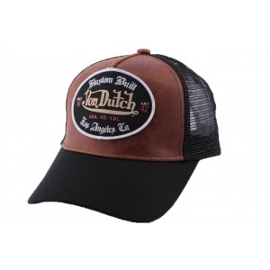Casquette Trucker Von Dutch Marron GRL