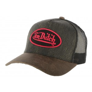 Casquette Trucker Von Dutch Rob Marron