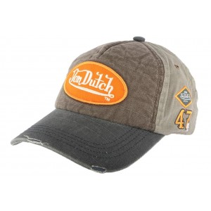 Casquette Baseball Von Dutch Jack Gris et Marron
