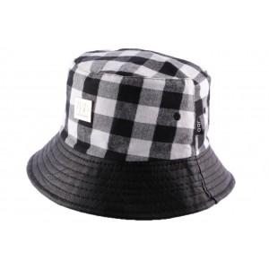Chapeau bob Noir et blanc à carreaux