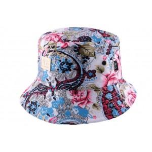 Chapeau bob Rouge et blanc par JBB Couture