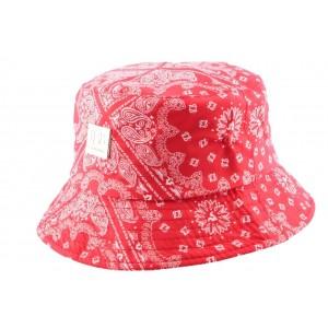 Chapeau bob Rouge imitation bandana