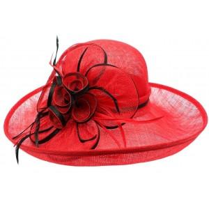 Chapeau Mariage Rouge et noir Léon Montane