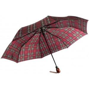 Parapluie Automatique Bordeaux et Vert Classique