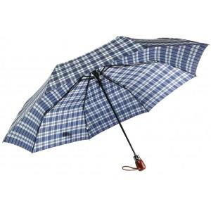 Parapluie Automatique Bleu et Beige Classique