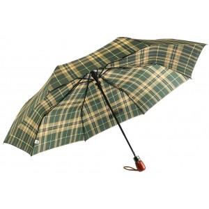 Parapluie Automatique Vert et Beige Classique