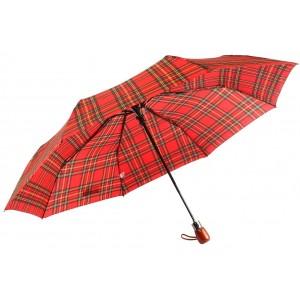 Parapluie Automatique Rouge et Noir Classique
