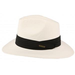 Chapeau paille blanc Réo
