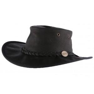 Chapeau Cuir Noir Sundowner