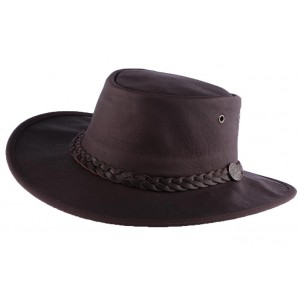 Chapeau Cuir Marron Sundowner