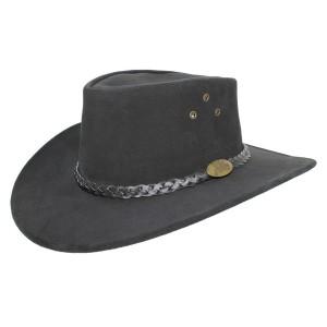 Chapeau Cuir Noir Wallace Jacaru