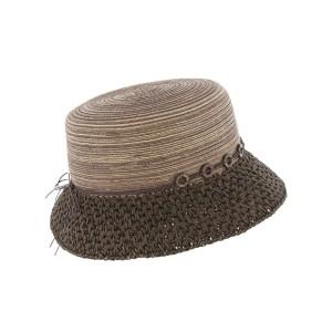 Chapeau paille Marron Claudia par Herman headwear