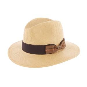 Chapeau paille Toyo Duke Tabac Herman Headwear