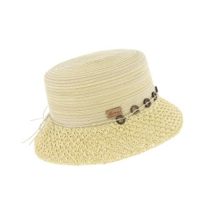 Chapeau paille Naturel Claudia par Herman Headwear