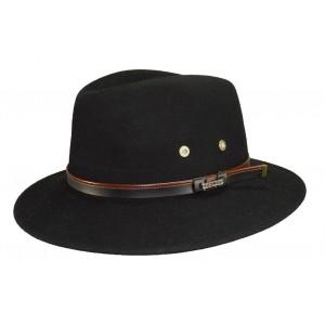 Chapeau feutre noir Mac Carthy Noir