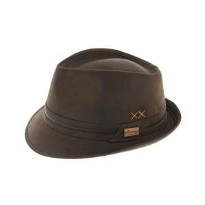 Chapeau Trilby Marron Vintage Kairan