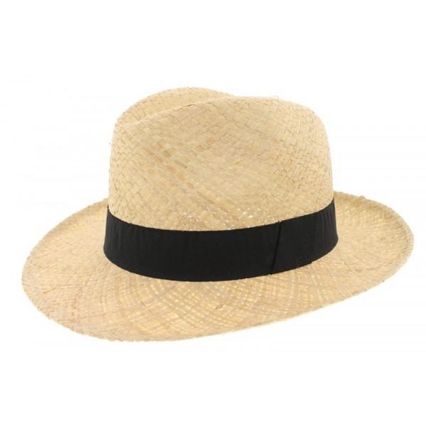 Chapeau de paille clapton noir oboclic - Deco chapeau de paille ...