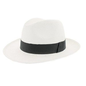 Chapeau paille blanc clapton par Herman headwear