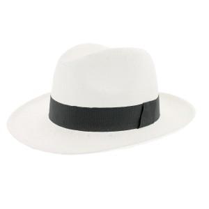 Chapeau paille Herman Headwear Blanc