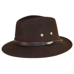 Chapeau de feutre Herman Mac Carthy Marron