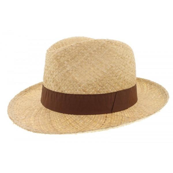Chapeau de paille clapton marron oboclic - Deco chapeau de paille ...