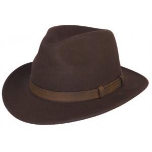 Chapeau feutre marron Burnaby