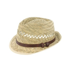 Chapeau paille naturel james par Herman Headwear