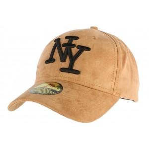 Casquette Baseball Daim Camel NY