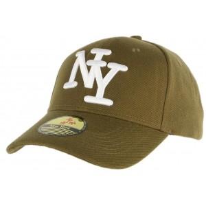 Casquette NY Enfant vert kaki de 7 à 12 ans