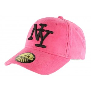 Casquette baseball Daim Rose NY