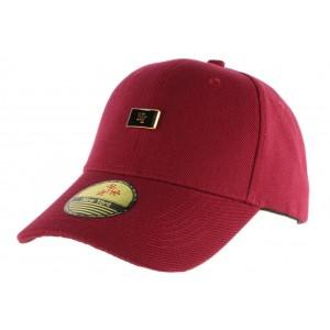 Casquette Baseball Rouge bordeaux streetwear