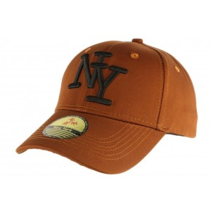 Casquette Baseball Marron avec logo NY