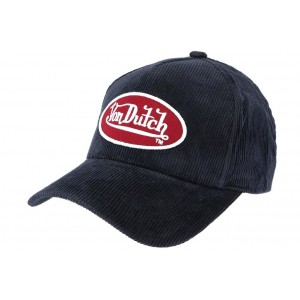 Casquette Peter bleu Velour Von Dutch