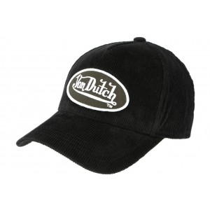 Casquette Von Dutch Noir en Velours Peter