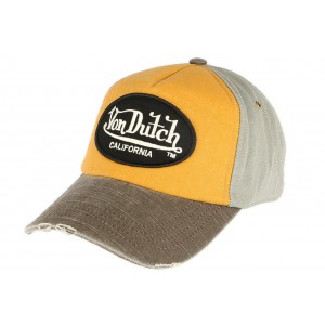 Casquette curve Orange Von Dutch