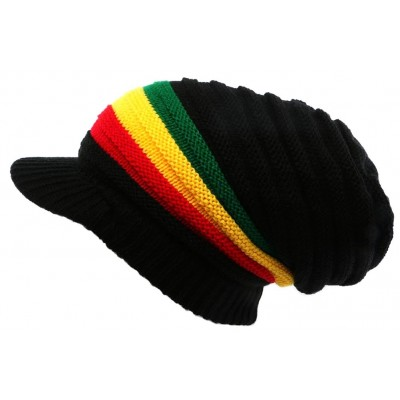 Casquette Bonnet Rasta Noir Jaune Rouge et Vert Jamaïque