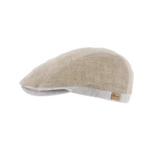 Casquette Plate Range Beige par Herman headwear
