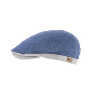 Casquette Plate Bleu Range par Herman headwear