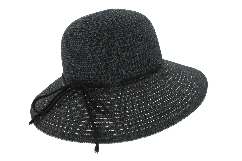 508f767935880 Chapeau de paille Noir Femme été - OBOCLIC