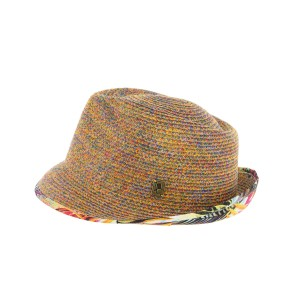 Chapeau paille orange Don Magnum