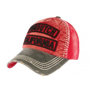 Casquette Baseball Rouge Niles Von Dutch