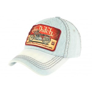 Casquette Baseball Bleu Terry Von Dutch