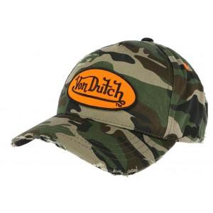 Casquette Baseball Camouflage Von Dutch