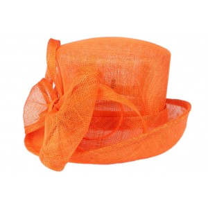 Chapeau Mariage orange Babeth